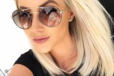 oversized clear sunglasses with a very eye-catchy double frame is a very new idea to go for