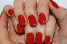 05 a classic red manicure is a bold and hot trend of 2020, classics never goes out of style