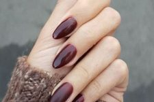 10 subtle burgundy ombre oval nails are a bold solution to rock in 2020