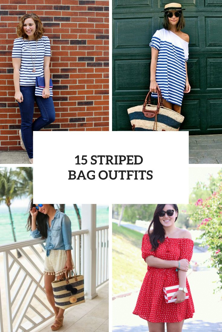 15 Awesome Outfits With Striped Bags