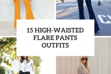 15 Looks With High-Waisted Flare Pants