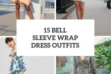 15 Outfits With Bell Sleeve Wrap Dresses