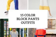 15 Outfits With Color Block Trousers
