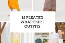 15 Outfits With Pleated Wrap Skirts