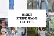 15 Outfits With Side Stripe Jeans For Ladies