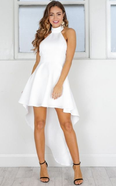 With black ankle strap shoes