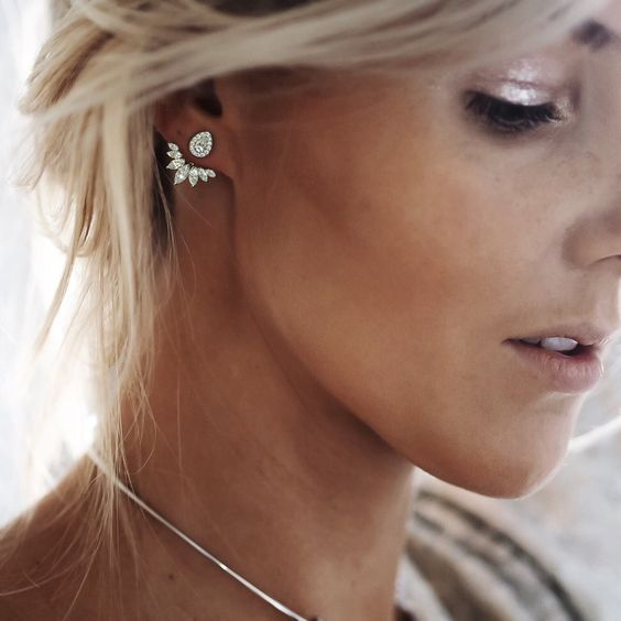 a gorgeous vintage inspired crystal jacket earring looks statement, chic and refined