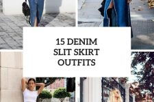 15 Cool Outfits With Denim Slit Skirts