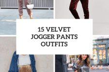 15 Looks With Velvet Jogger Pants