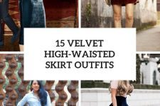 15 Outfits With Velvet High-Waisted Skirts