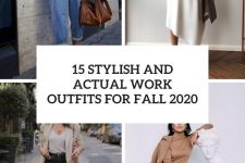 15 stylish and actual work outfits for fall 2020 cover