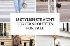 15 stylish straight leg jeans outfits for fall cover