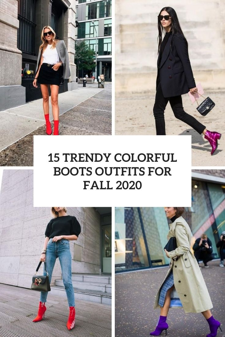 trendy colorful boots outfits for fall 2020 cover