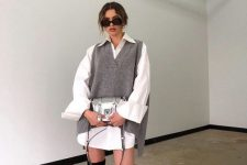 a stylish work look with a shirtdress