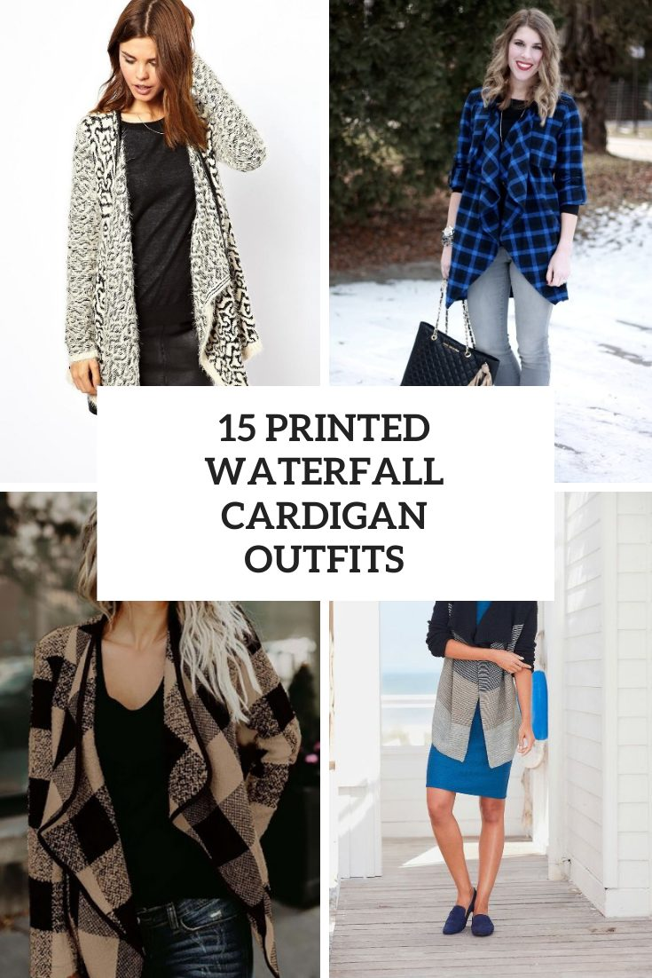 15 Looks With Printed Waterfall Cardigans