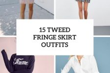 15 Looks With Tweed Fringe Skirts