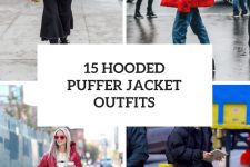 15 Women Outfits With Hooded Puffer Jackets