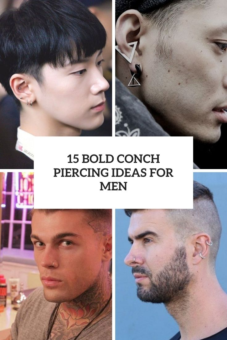bold conch piercing ideas for men cover