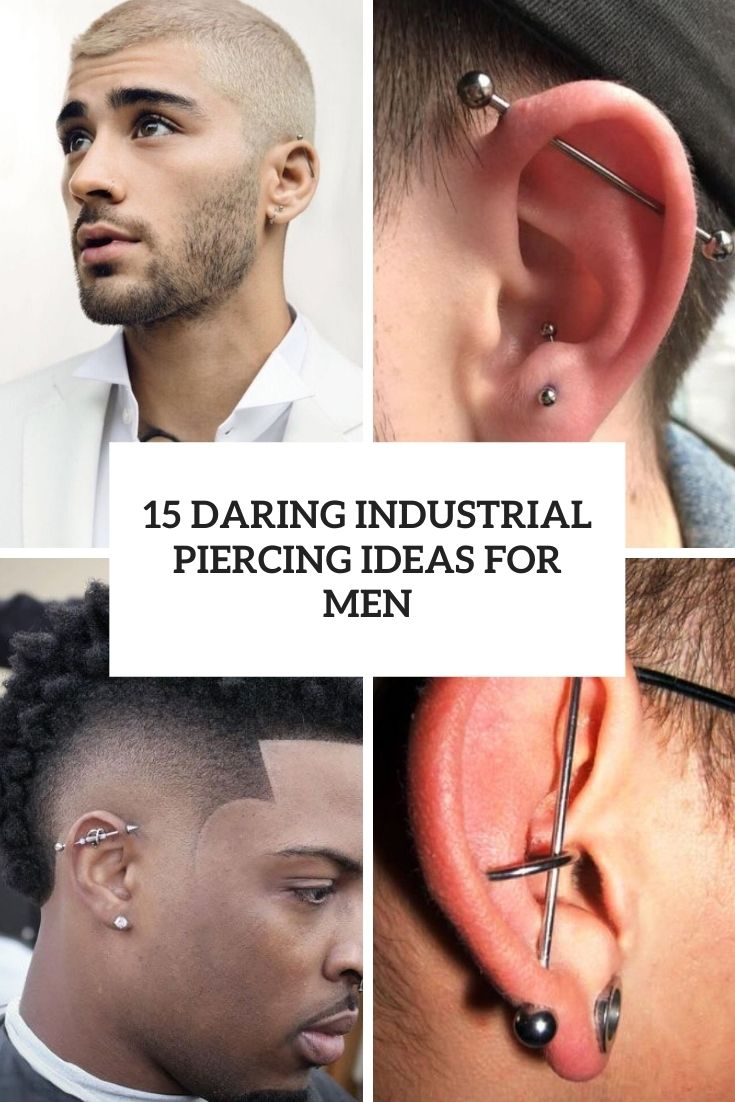 daring industrial piercing ideas for men cover