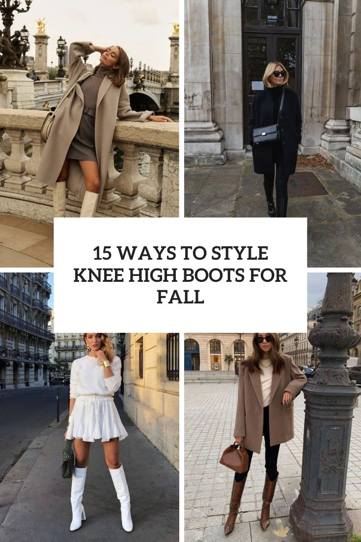ways to style knee high boots for fall cover