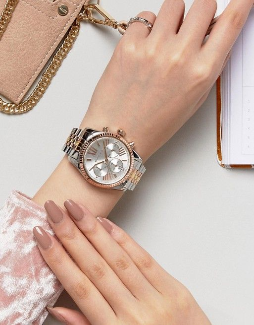 a bracelet watch in a mixed metal is a stylish idea as it features two trends - mixed metals and a bracelet