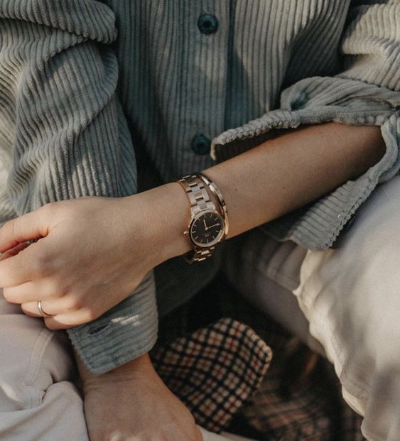 a bracelet watch in any color will easily match your outfit, whether it's classic or bold and edgy