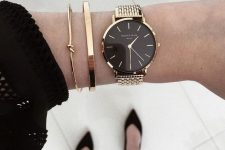 two bracelets and a watch is an awesome combo