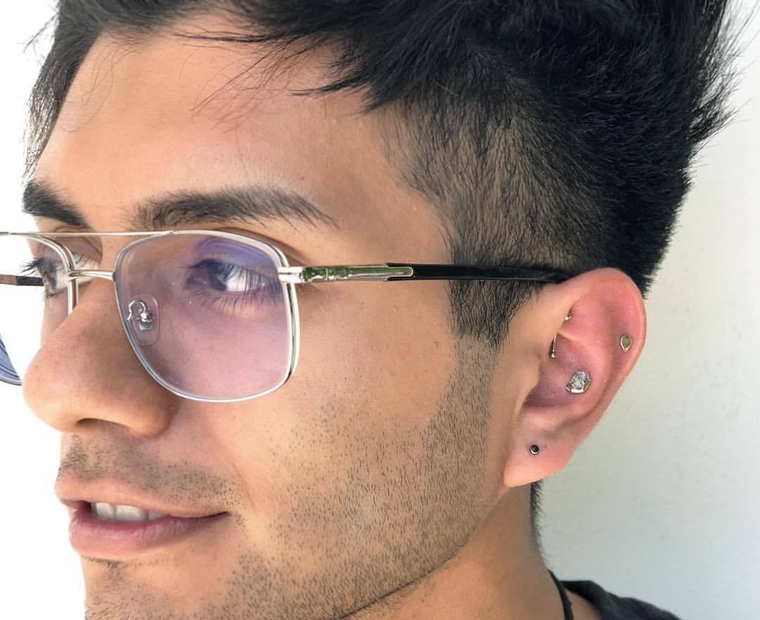 mixed piercing idea for a men