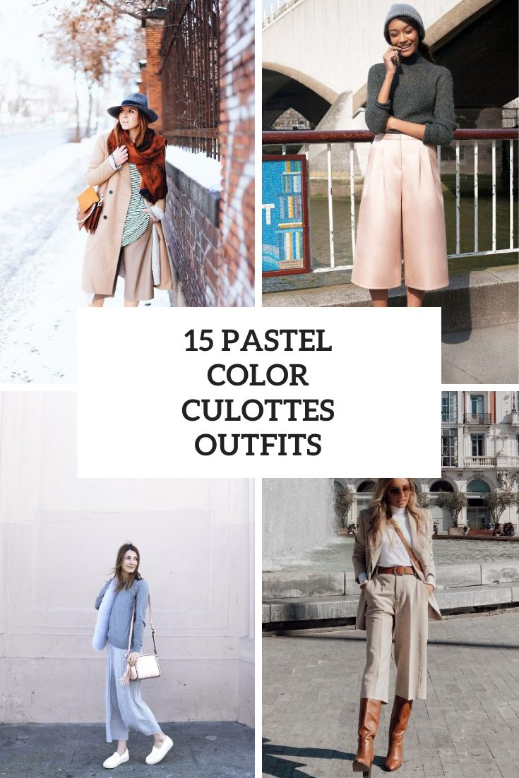 15 Fall Looks With Pastel Color Culottes