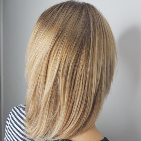 beautiful blonde airtouch highlights in warm shades are very romantic, chic and glowing