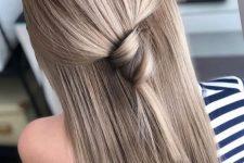 chestnut hair idea with highlights