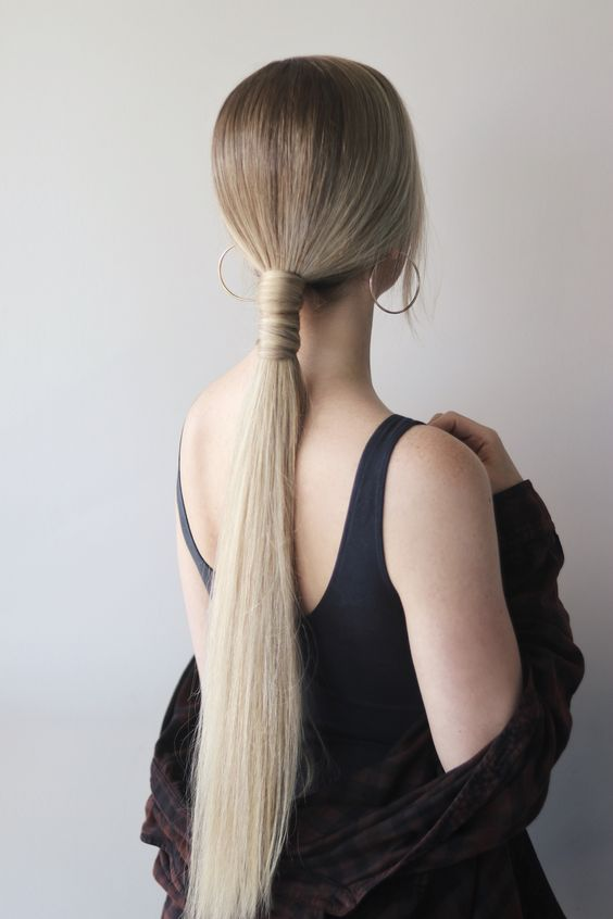 a low, very sleek and very long ponytail wrapped with hair is a great idea for a special occasion