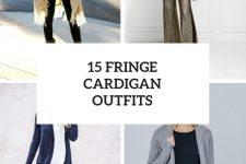 15 Cozy Looks With Fringe Cardigans