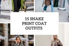 15 Looks With Snake Print Coats