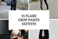 15 Outfits With Flare Crop Pants