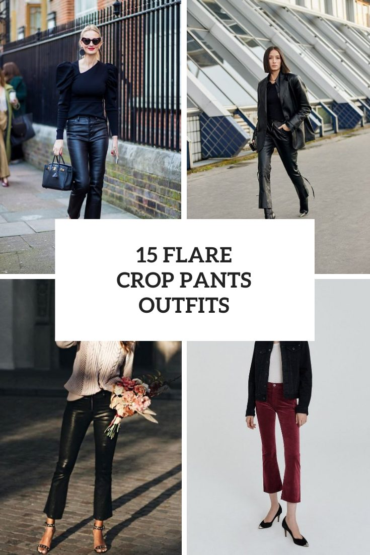 Outfits With Flare Crop Pants