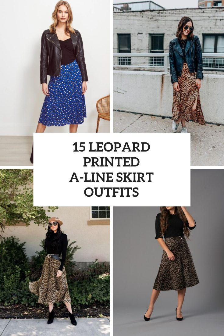 15 Outfits With Leopard Printed A-Line Skirts