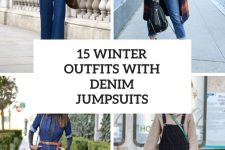 15 Winter And Fall Looks With Denim Jumpsuits