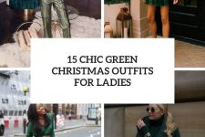 15 chic green christmas outfits for ladies cover