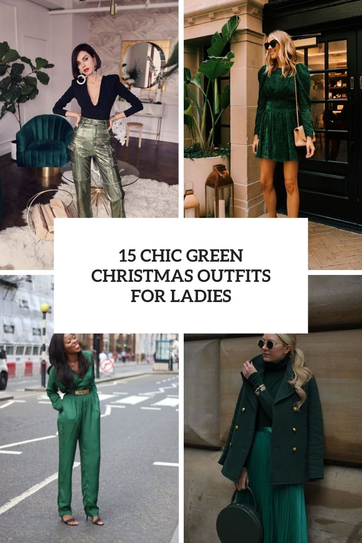 15 Chic Green Christmas Outfits For Ladies