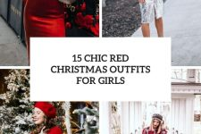 15 chic red christmas outfits for girls cover