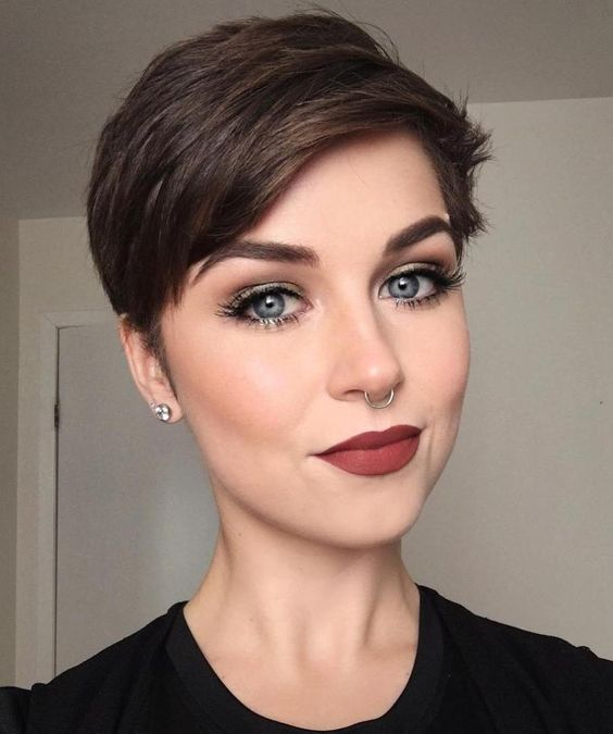 such a modern and stylish pixie with a bit of volume and texture is an ideal option to go for