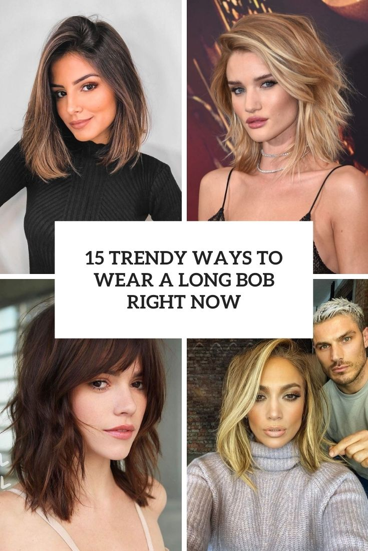 trend ways to wear a long bob right now cover