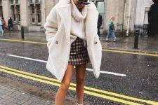 chic mini skirt and sweater combo