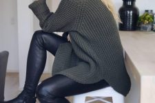 a cozy winter look with a sweater