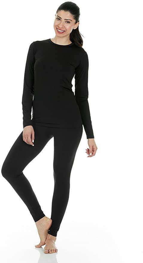03 a set of black thermal underwear is a great idea for cold winters, it will keep you warm and won't stand out at all
