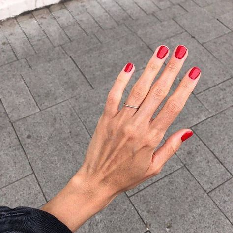 short red nails are timeless classics that always works and makes you look bolder and catchier
