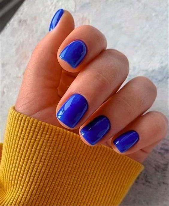 styling such a bold electric blue manicure can be tricky but still possible , it will be your color accent