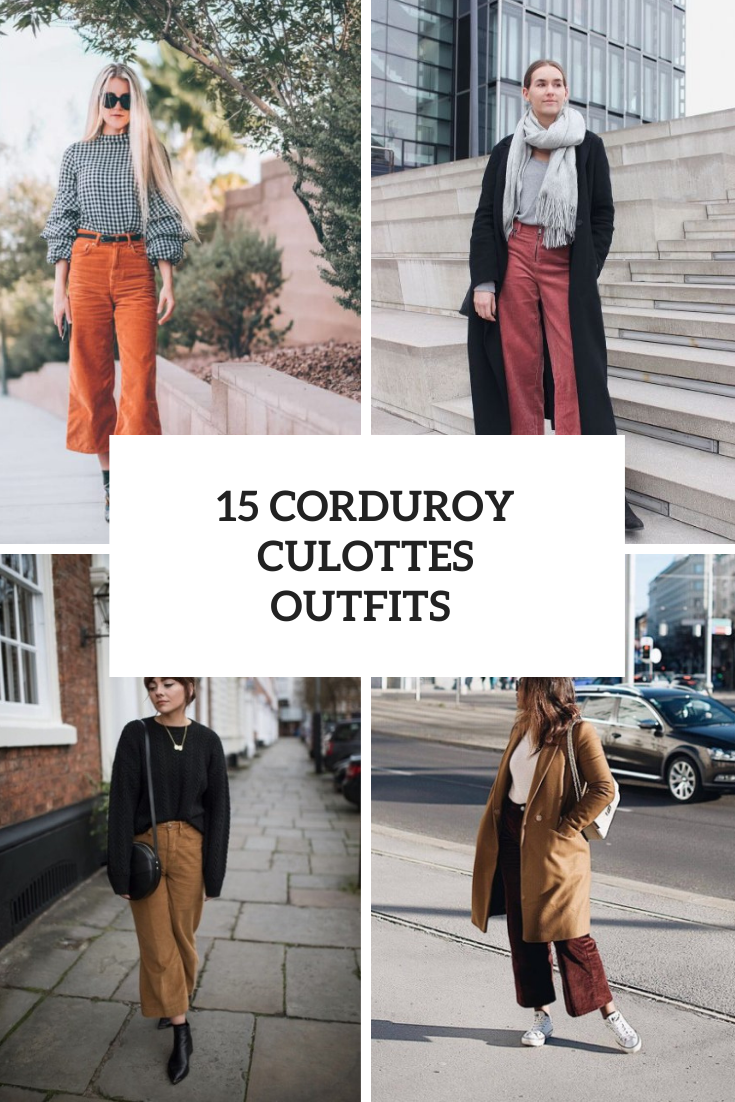 Cozy Outfits With Corduroy Culottes