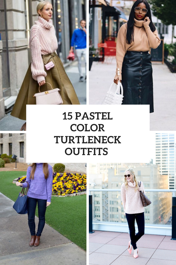 15 Outfits With Pastel Color Turtlenecks